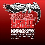 P02208 Nickel Wound Light Комплект струн для электрогитары, никель, 11-52, Ernie Ball