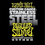 P02246 Regular Slinky Steel Комплект струн для электрогитары, сталь, 10-46, Ernie Ball